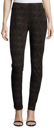 NYDJ Python-Print Leggings, Textured Snake $120 thestylecure.com