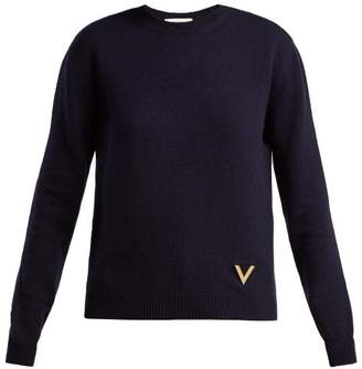 Valentino Cashmere Sweater - Womens - Navy