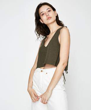 RVCA Laced Top Olive