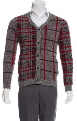 Opening Ceremony Patterned Wool-Blend Cardigan