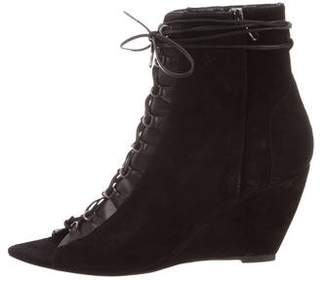 Narciso Rodriguez Lace-Up Wedge Booties