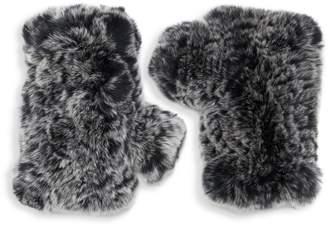 Saks Fifth Avenue Rex Rabbit Fur Fingerless Gloves