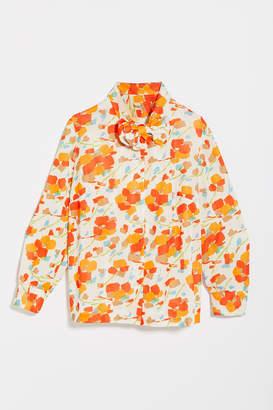 Urban Renewal Vintage Painterly Tie-Collar Button-Down Shirt
