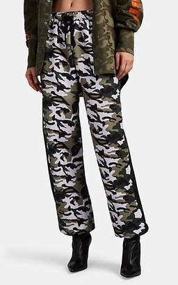 D-ANTIDOTE Women's Camouflage Neoprene Jersey Jogger Pants - Green
