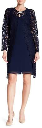 Chetta B Lace Top Coat & Shift Dress