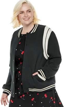 Popsugar Plus Size POPSUGAR Athletic Bomber Jacket
