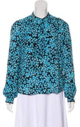 Zadig & Voltaire Long Sleeve Floral Print Blouse