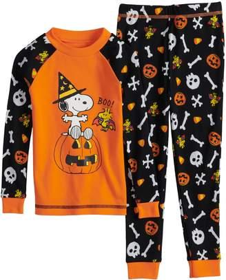 Toddler Boy Peanuts Snoopy & Woodstock Halloween Top & Bottoms Pajama Set