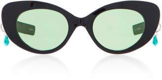 Cat Eye Pared Eyewear Exclusive Poms & Pared Acetate Cat-Eye Sunglasses
