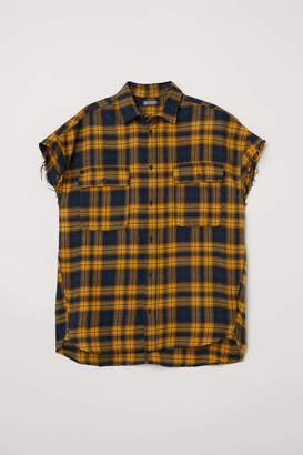 H&M Short-sleeved Flannel Shirt