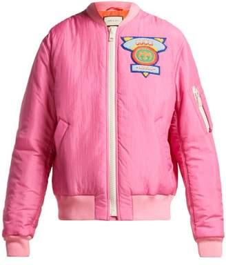 Gucci Logo Embellished Padded Jacket - Womens - Pink Multi