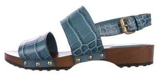 Tod's Embossed Leather Sandals