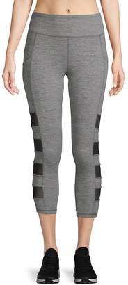 X by Gottex Women's Side Block Mesh Capri Leggings