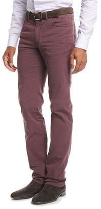 Brioni Five-Pocket Stretch-Cotton Pants