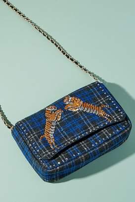 Becksöndergaard Embellished-Embroidered Checked Shoulder Bag