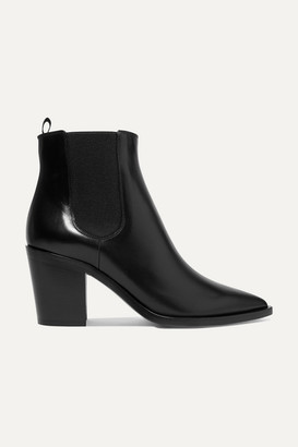 Gianvito Rossi 70 Leather Chelsea Boots - Black