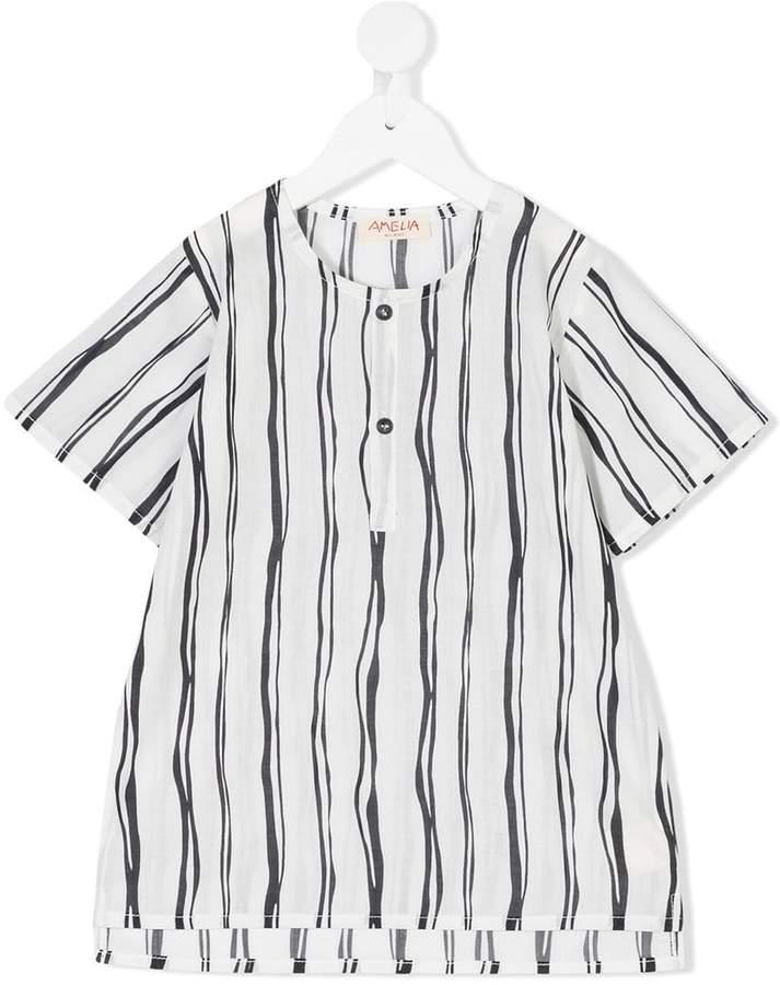 Amelia Milano T-Shirt mit Knöpfen