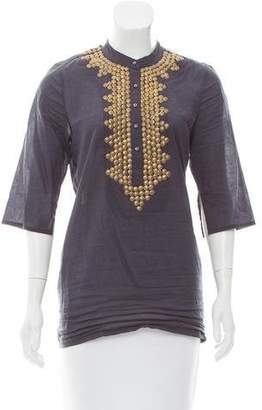 Figue Embellished Three-Quarter Sleeve Tunic