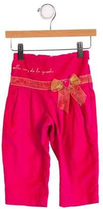 Agatha Ruiz De La Prada Girls' Velvet Embroidered Pants