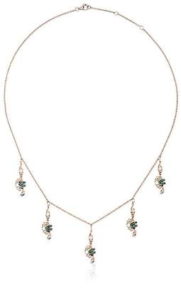 Black Diamond Yvonne Léon 18k gold crabs necklace with and tsavorite