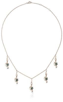 Black Diamond Yvonne Léon 18k gold crabs necklace with and tsavorite
