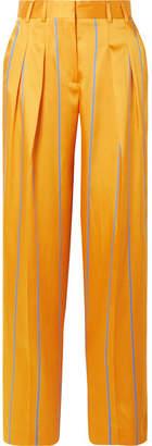 Victoria, Victoria Beckham Striped Satin-twill Wide-leg Pants