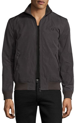 Fred Perry Tonic Brentham Track Jacket, Gray $250 thestylecure.com