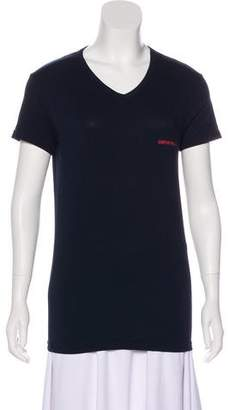 Emporio Armani V-Neck Logo T-Shirt