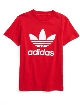 Boy's Adidas Trefoil Graphic T-Shirt $24 thestylecure.com
