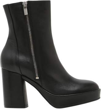 Janet & Janet Janet&janet 75mm Zipped Leather Boots