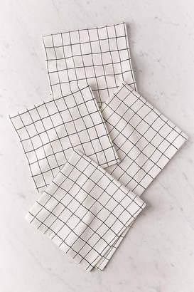 Urban Outfitters Wonky Grid Napkin Set
