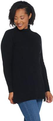 Halston H By H by Funnel Neck Mixed Stitch Sweater Tunic