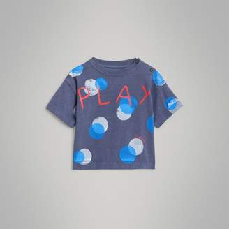 Burberry Childrens Oversized Spot Print Cotton T-shirt
