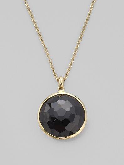 Ippolita Black Onyx & 18K Yellow Gold Necklace