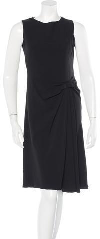 pradaPrada Sleeveless Pleat Dress
