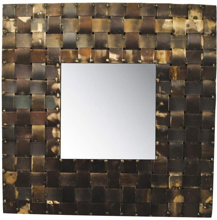 Basket Weave Framed Wall Mirror
