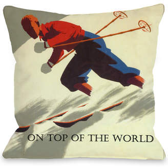Top of the World One Bella Casa On Vintage Ski Pillow By Obc
