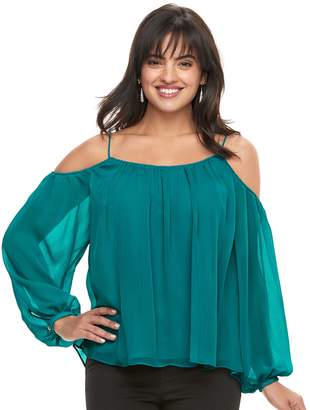 JLO by Jennifer Lopez Women's Cold-Shoulder Swing Top
