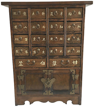 One Kings Lane Vintage Chinese Apothecary Cabinet - Chic Transitions