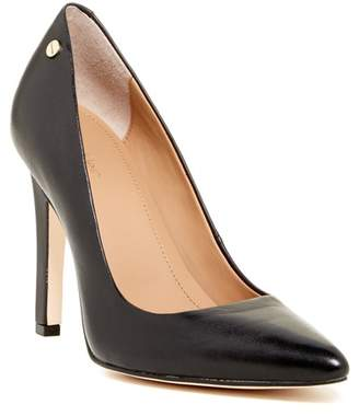 Calvin Klein Brady Leather Pointed Toe Pump - Wide Width Available