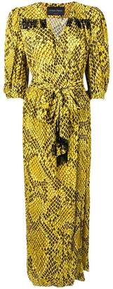Christian Pellizzari snake pattern wrap dress
