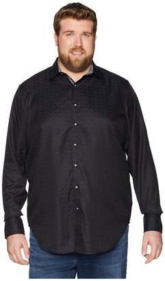 Robert Graham Big Tall Diamante Long Sleeve Woven Shirt Men's Clothing