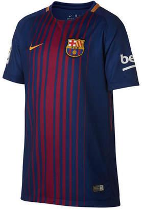 Nike Fc Barcelona Club Team Home Stadium Jersey, Big Boys (8-20) $75 thestylecure.com