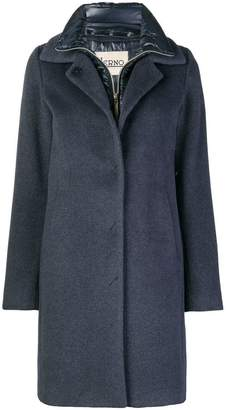 Herno layered buttoned coat