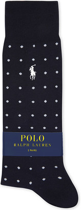 Polo Ralph Lauren Spots & stripes cotton socks pack of two $23.50 thestylecure.com