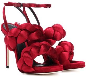 Marco De Vincenzo Velvet sandals