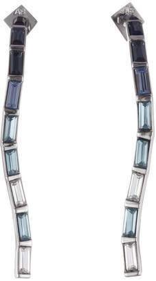 Alexis Bittar Ombre Crystal Baguette Linear Post Earring