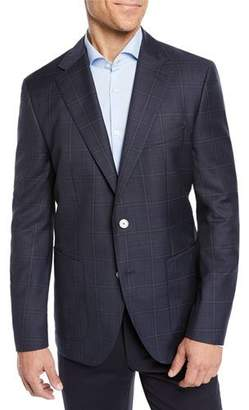 BOSS Men's Windowpane Blazer Jacket