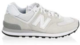 New Balance W574 Logo Suede Low Top Sneakers