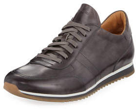 Magnanni Men's Hand-Antiqued Calf Sneakers